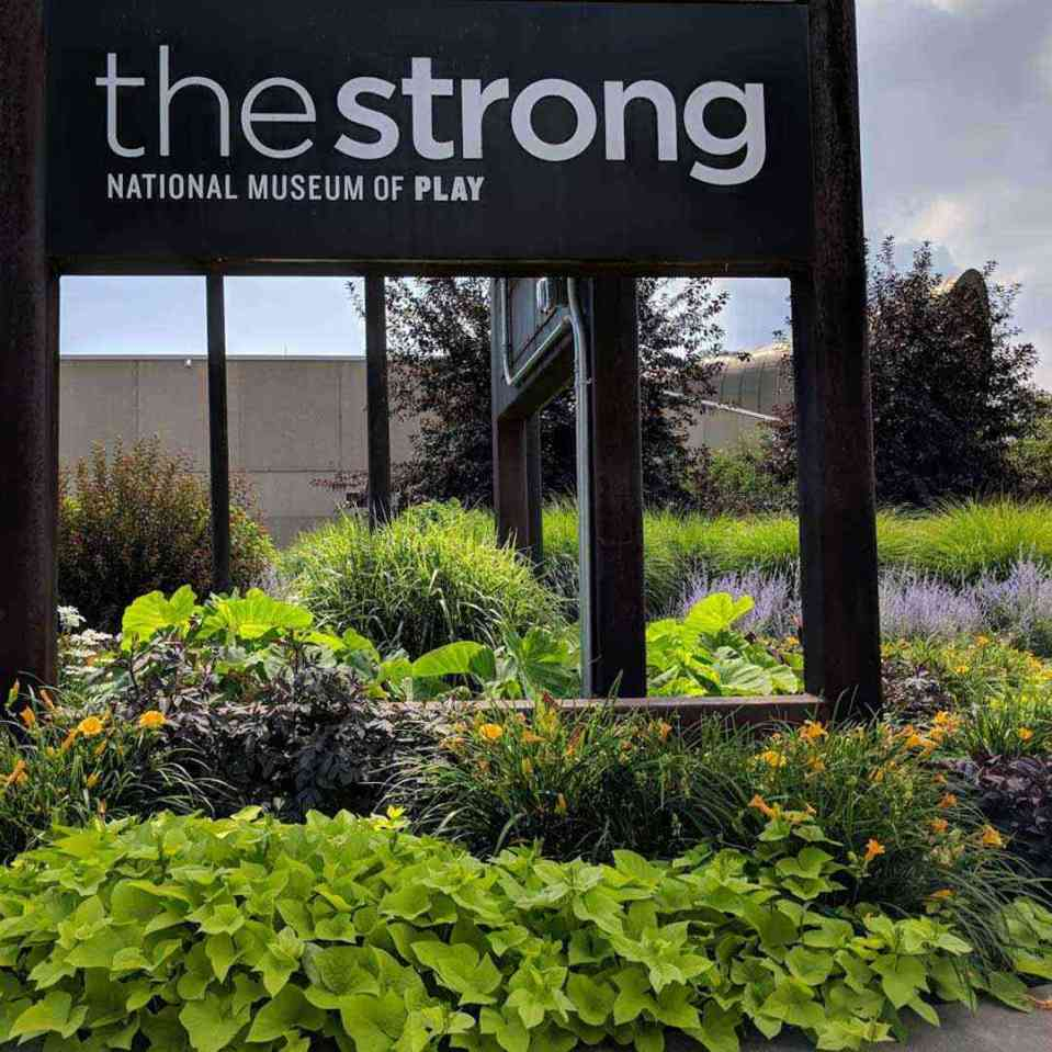 Strong National Museum of Play front sign