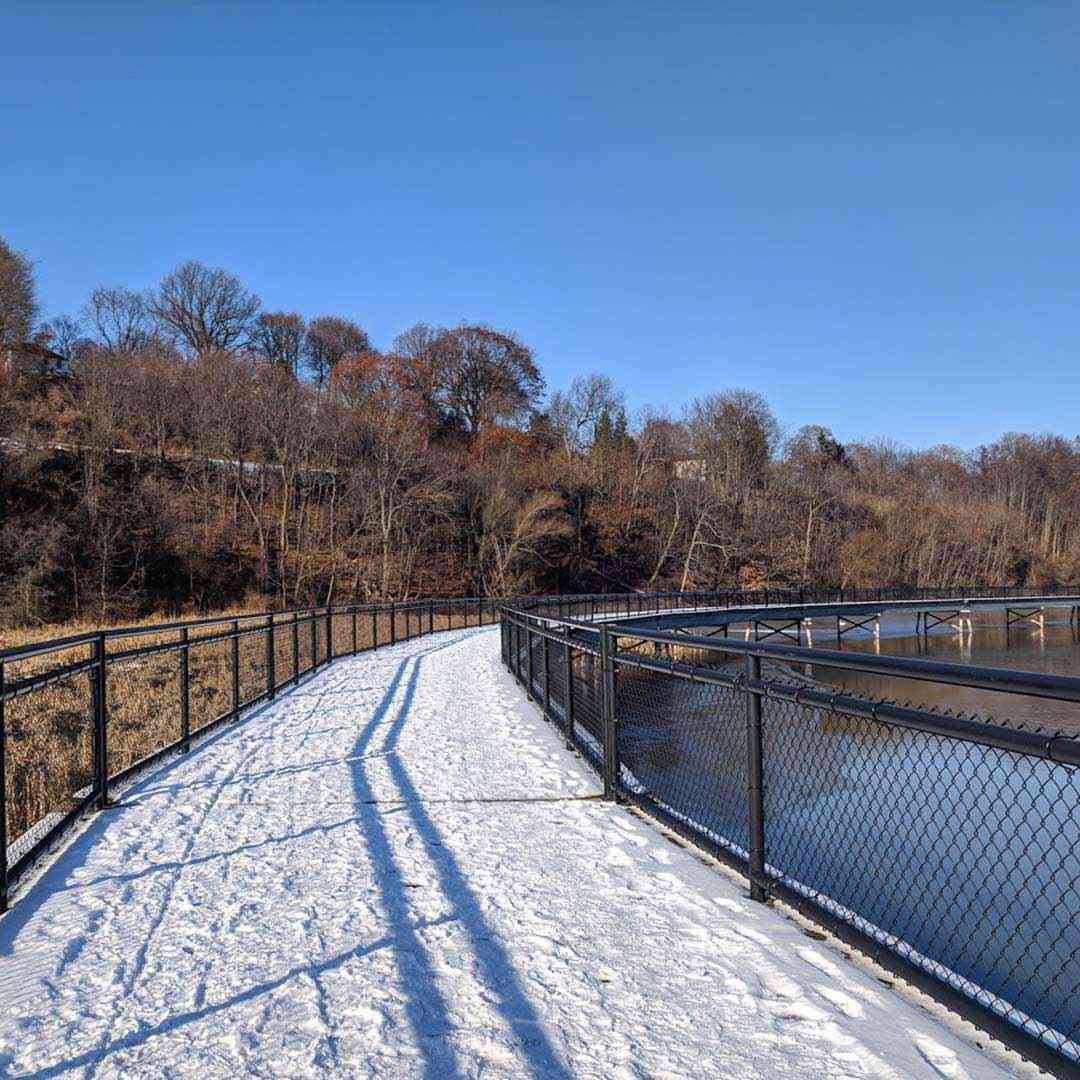 Hidden places: Turning Point Park snow winter