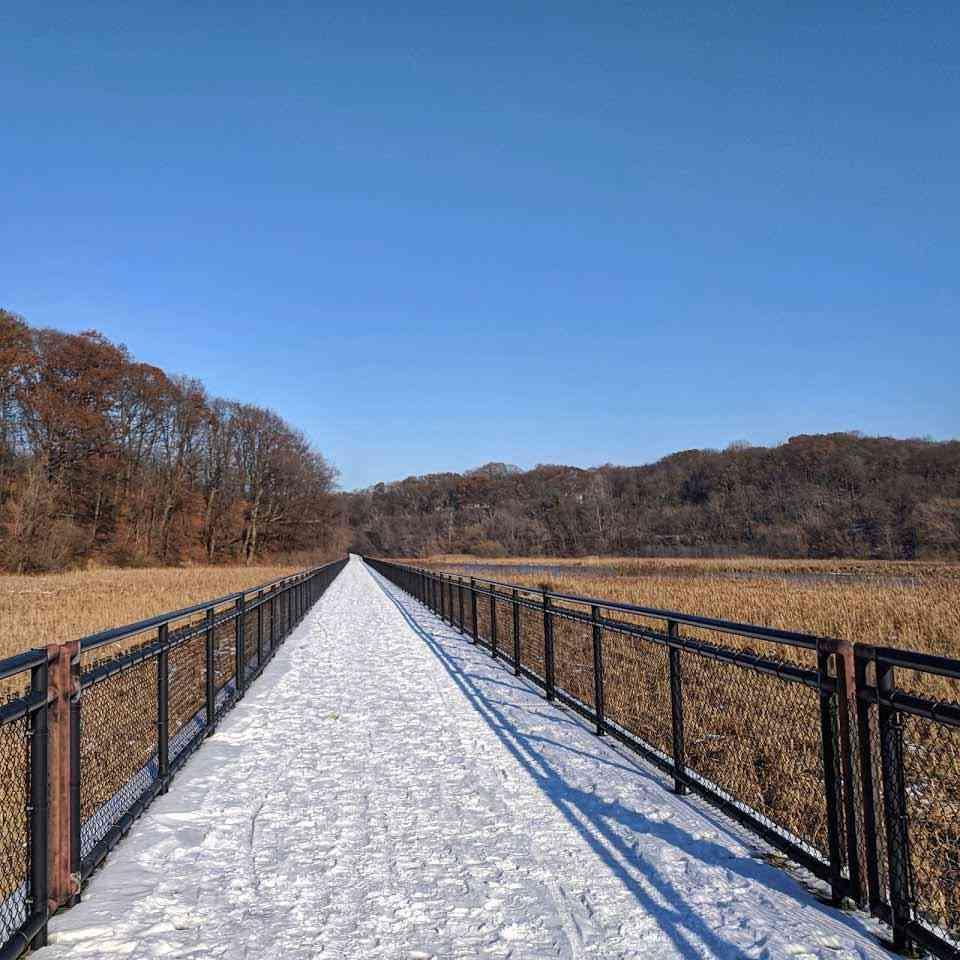 Turning Point Park walking winter