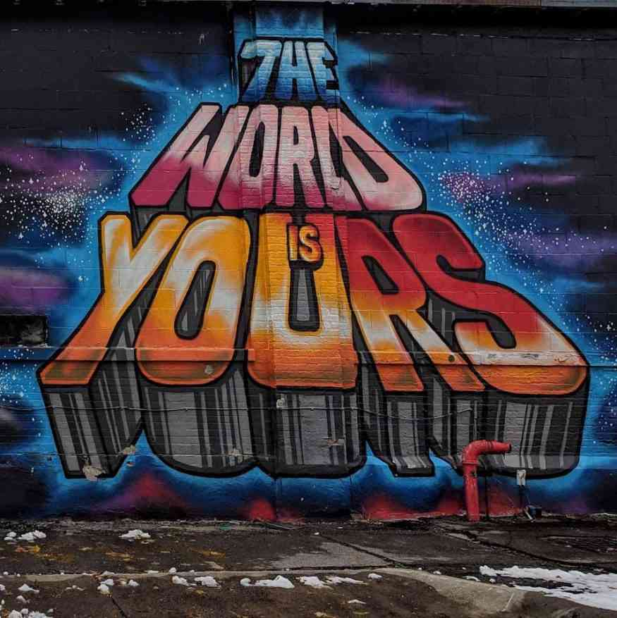 public wall art world is yours