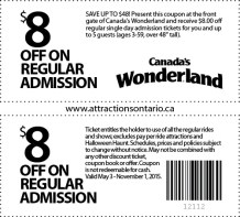 Canada's Wonerland Coupon, Attraction Ontario Coupon, Day Trips Ontario,