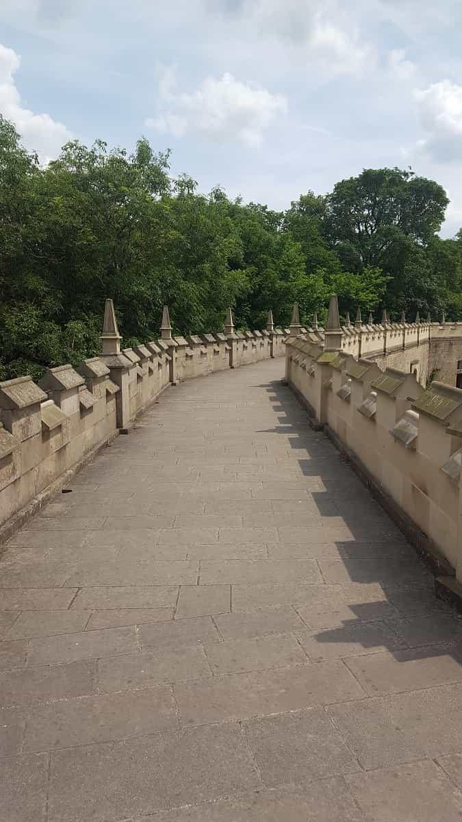 Wall walk at Bolsover Castle