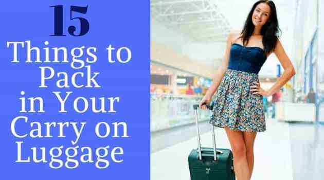 What to pack in your carry on luggage for a flight