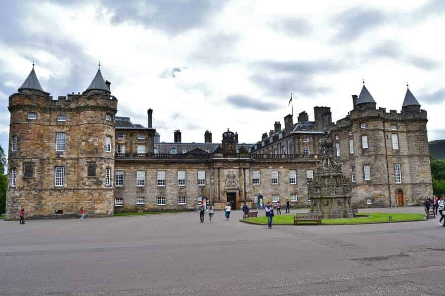 Holyroodhouse Palace in Scotland