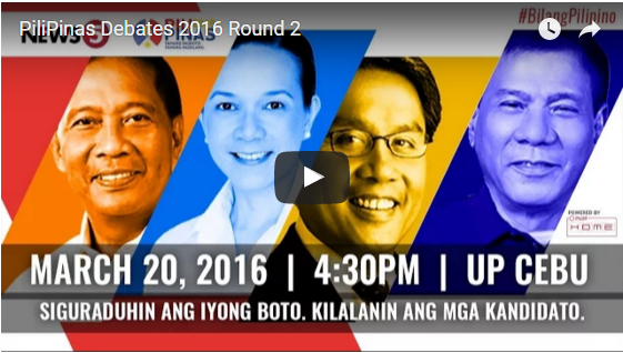 Second Presidential Debate Full Replay – PiliPinas 2016