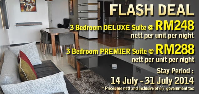 The Jesselton Girl Deals: 3 Bedroom Suite @ Likas Square Apartment Hotel