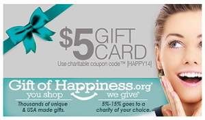 $5 gift - use as discount or share with your favorite charity