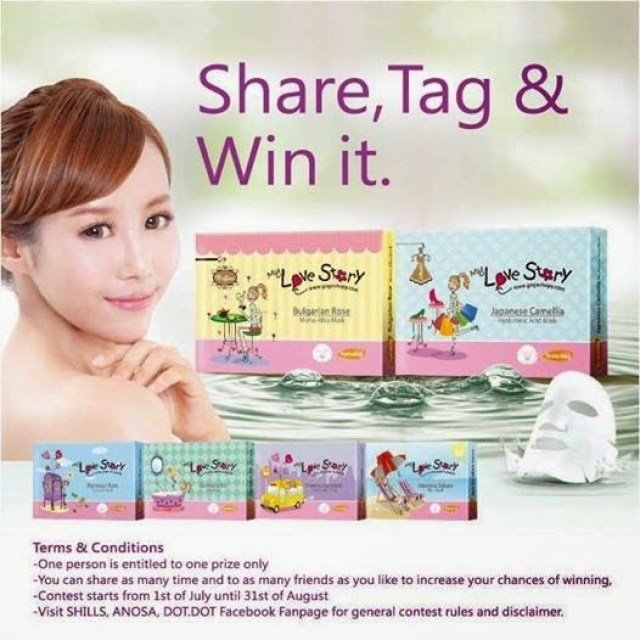 The Jesselton Girl Giveaway: Share & Win - My Love Story Mask