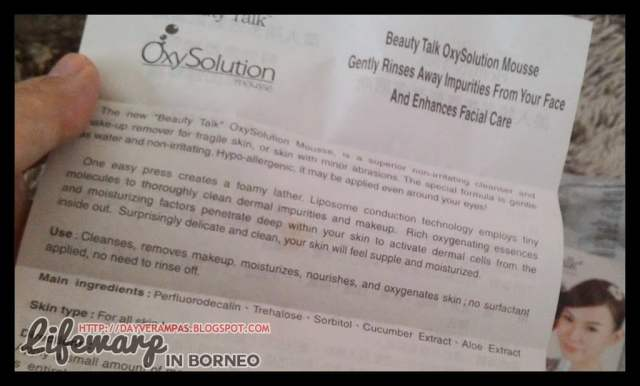 The Jesselton Girl Review: Beauty Talk Oxy Solution Mousse Cleanser 110ml