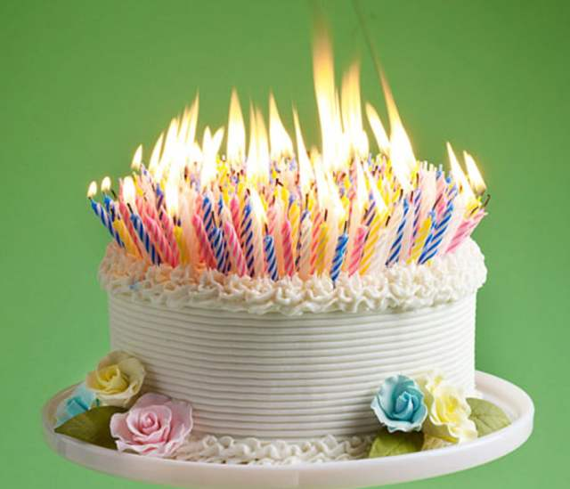 I want my 40th birthday cake full with candles. LOL!