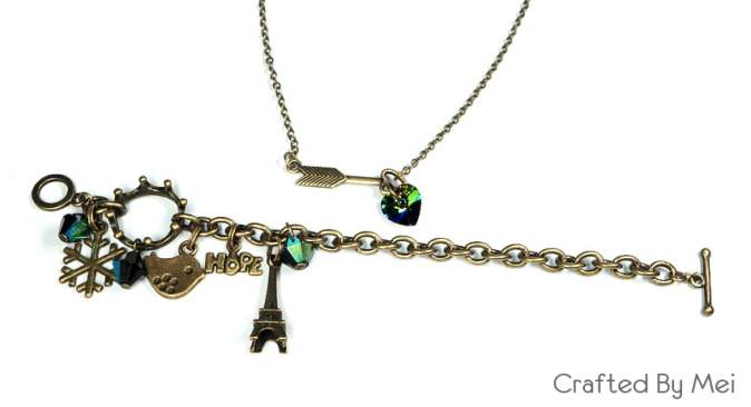 eiffel bracelet necklace set christie