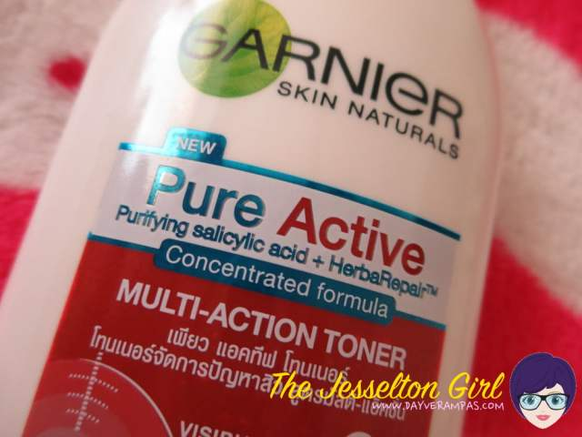 Review: Garnier Skin Naturals Pure Active Toner, The Jesselton Girl