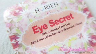Beauty: Horien Eye Secret 38% 6-Month Disposable Colour Contact Lens in Daisy Grey, The Jesselton Girl