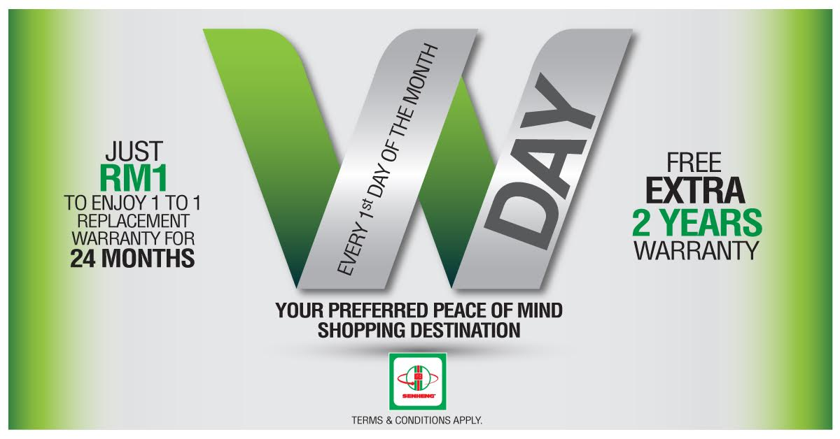 Promotion: Exclusive W-Day for Senheng PlusOne Members