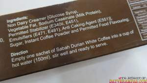 Sabah Durian White Coffee