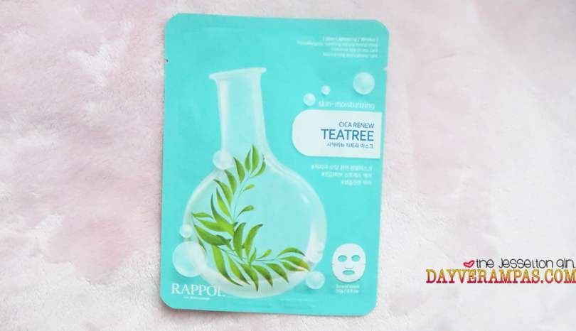 Nature Medics Rappol Cica Renew Teatree Mask Moisturizes & Lightens My Skin Instantly!