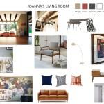 Rustic Living Room Mood Board