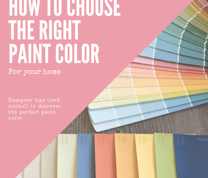 How To Choose The Best Paint Colors For Your Home