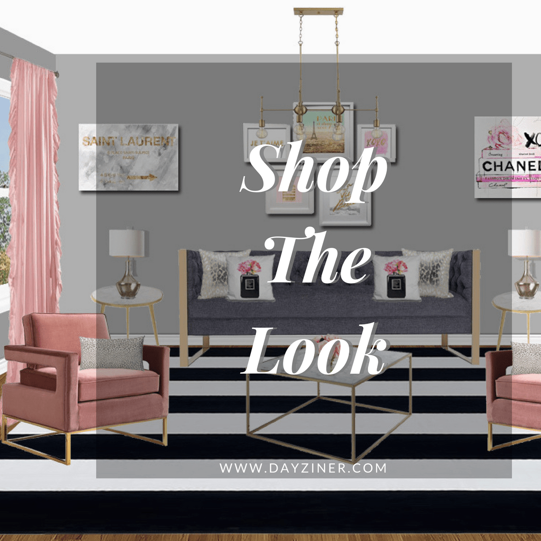 Shop The Look: Pink, Gold and Glam