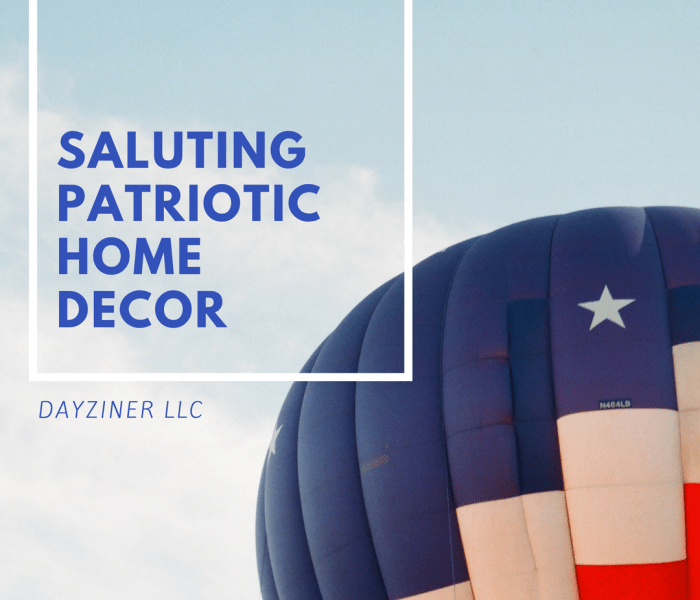 Saluting Patriotic Home Decor