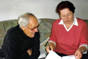 Валентина Зоммер со скульптором. Последняя встреча.