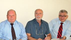 Председатели региональных обществ немцев Виктор Ульрих (г. Костанай), Иосиф Бахман (г. Шымкент), Александр Думлер (г. Атырау).