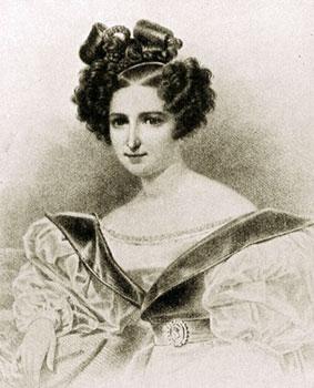 Примадонна оперы Вильгельмина Шредер-Девриент.