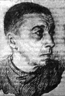 Рисунок Юло Соостера «Зэк в телогрейке», Карлаг, 1955 г.   Фото предоставлено автором