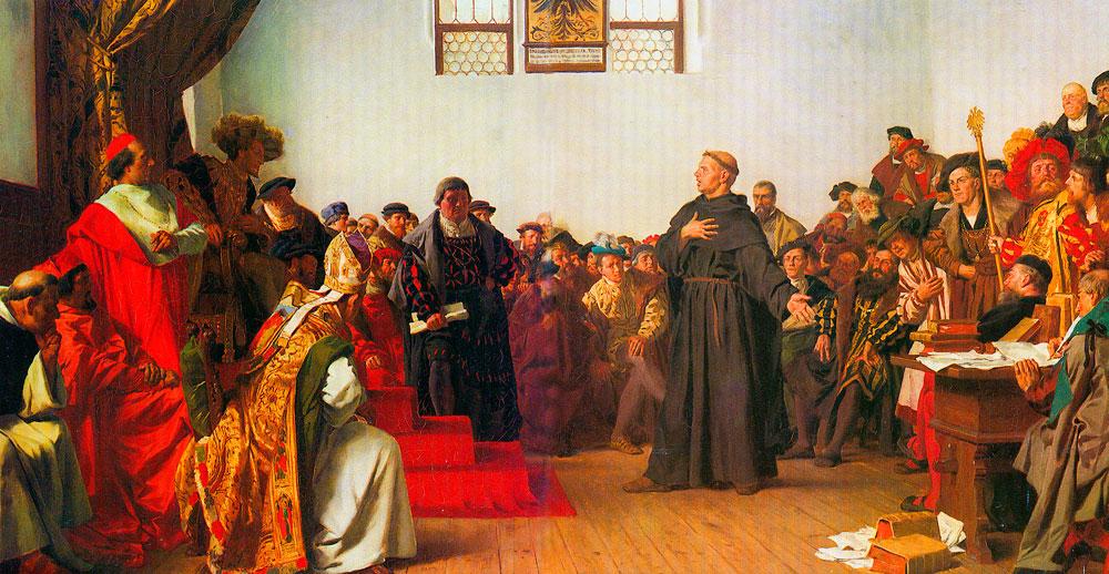 Мартин Лютер в Вормсе. 18 апреля 1521 г. «На сём я стою…».