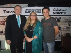 Известный культуртрегер российских немцев Якоб Фишер (слева) посетил Караганду.
