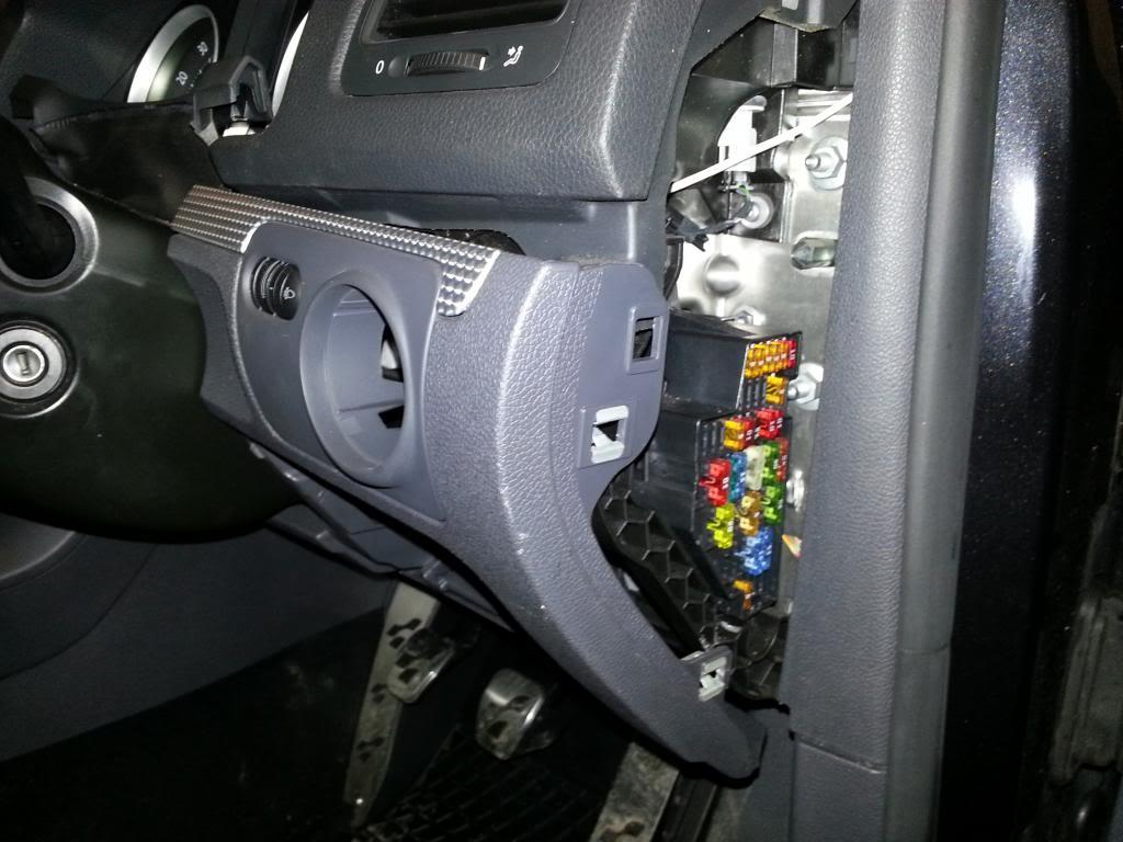 hight resolution of starting from near the fuse box prise the panel out and withdraw from the car working towards the steering wheel