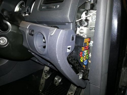 small resolution of starting from near the fuse box prise the panel out and withdraw from the car working towards the steering wheel