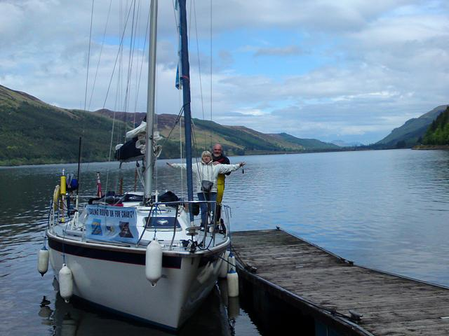 Brian and Barbara, Loch Lochy.  Passage Inverness to Oban 2009