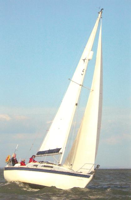 Sailing with friends in Solent, 2007