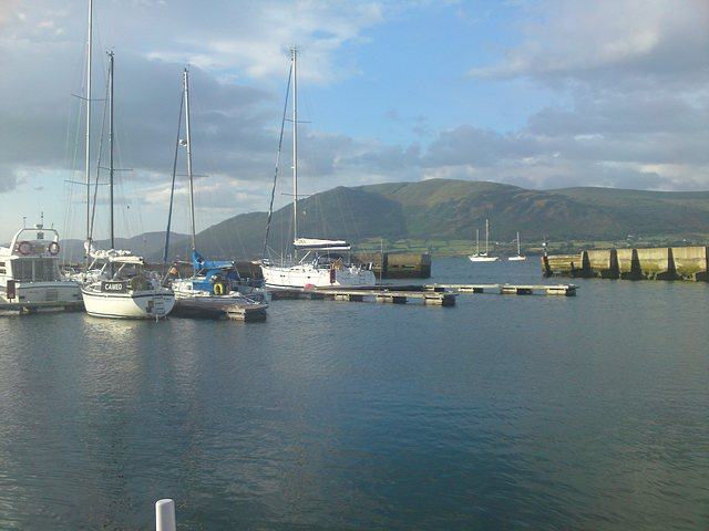 Carlingford Lough seen from the marina