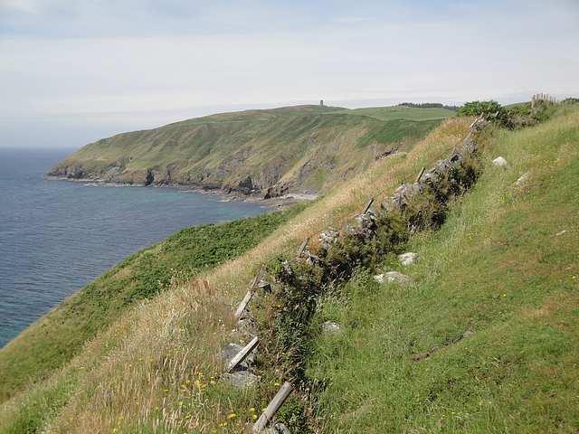 Cliffs near Peel, Isle of Man