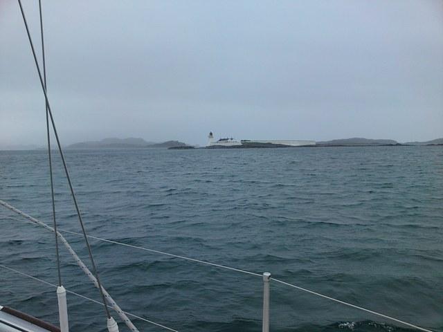 Passing Fladda Lighthouse
