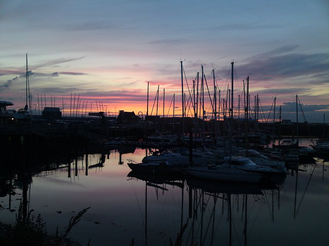Howth Marina at sunset