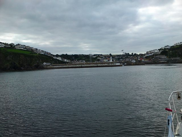 Approaching Mevagissey Harbour.