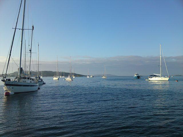 Moorings New Grimsby Sound, Tresco.