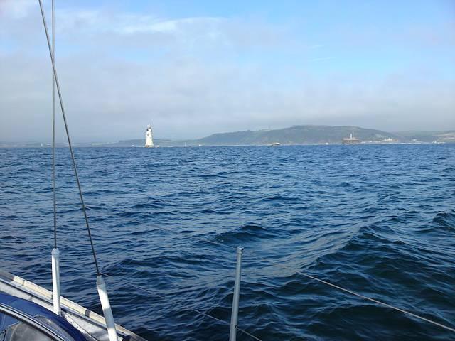 Plymouth breakwater, approaching W light.