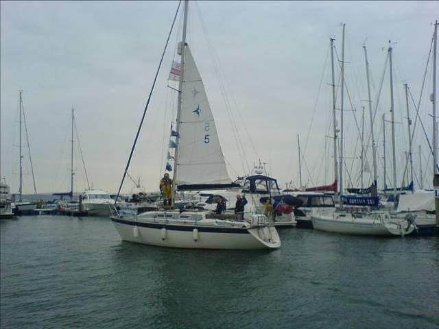 Arriving Lymington Yacht Haven.
