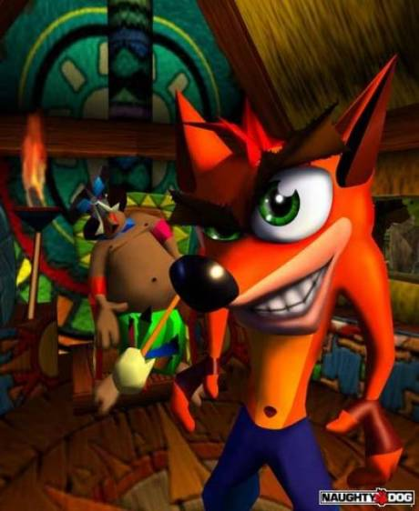 Papu Papu's hut in concept art from Crash Bandicoot