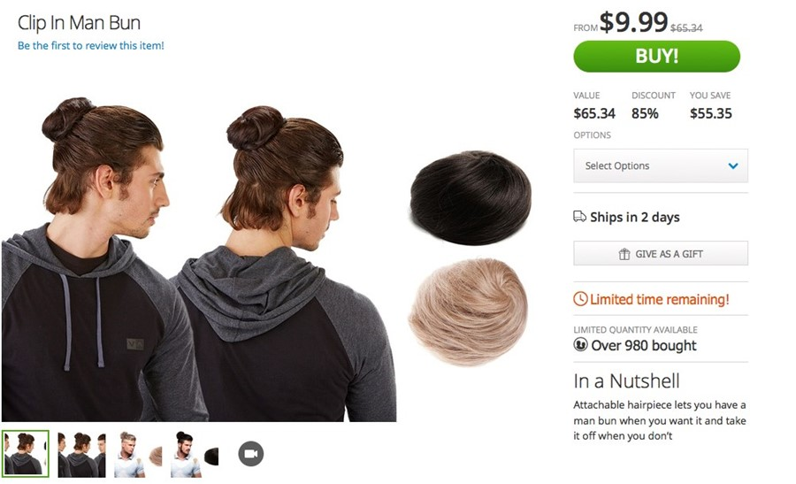 3.use bobby pins to secure the man bun, decide bobby pins are too mainstream, use antique paper clips instead attachable hairpiece; All The Times Your Clip On Man Bun Let You Down Dazed