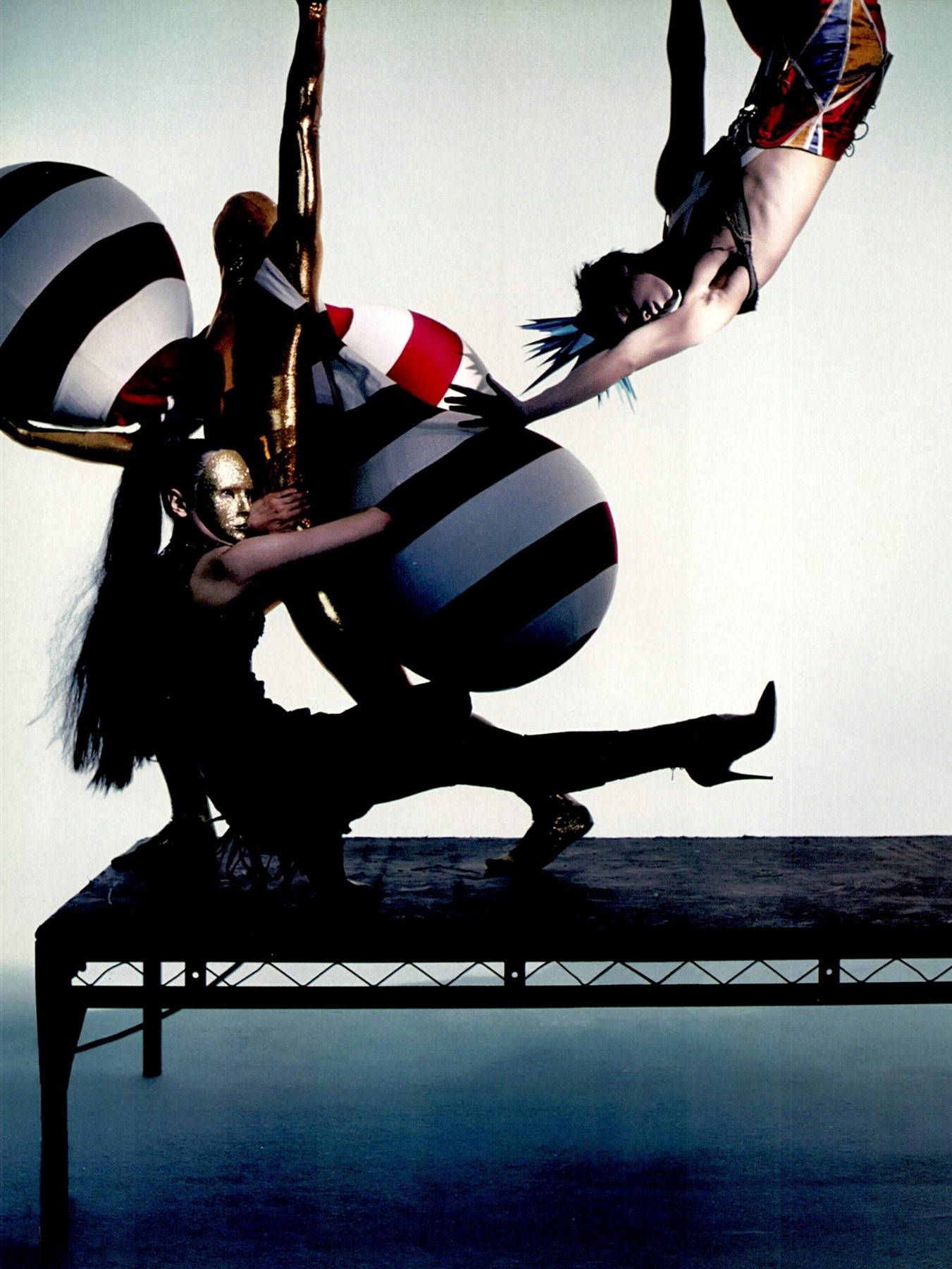 Editorial photo featuring Gareth Pugh's graduation collection, Dazed & Confused, April 2004