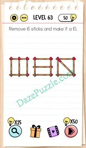Jawaban Brain Out Level 63 : jawaban, brain, level, Brain, Level, Remove, Sticks, Answer, Puzzle