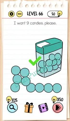Jawaban Brain Test Level 66 : jawaban, brain, level, Brain, Level, Candies,, Please, Answer, Puzzle