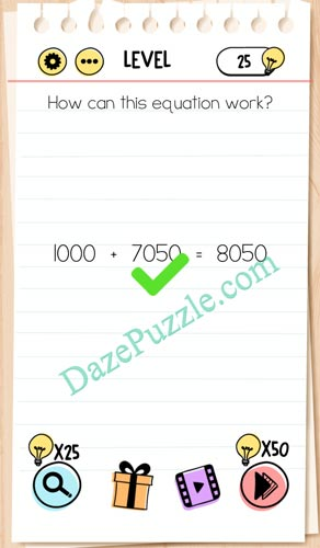 Brain Out No 70 : brain, Brain, Level, Equation, Answer, Puzzle