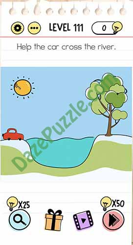 Brain Test Level 111 : brain, level, Brain, Level, Cross, River, Answer, Puzzle