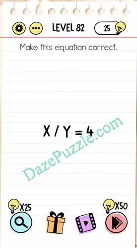 Jawaban Brain Test Level 66 : jawaban, brain, level, Brain, Level, Equation, Correct, Answer, Puzzle
